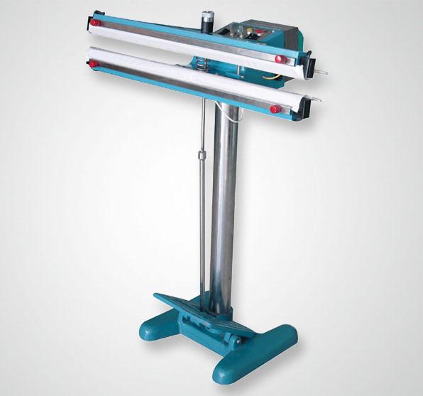Педальный аппарат для запечатывания пакетов (мешков) с двухсторонним нагревом